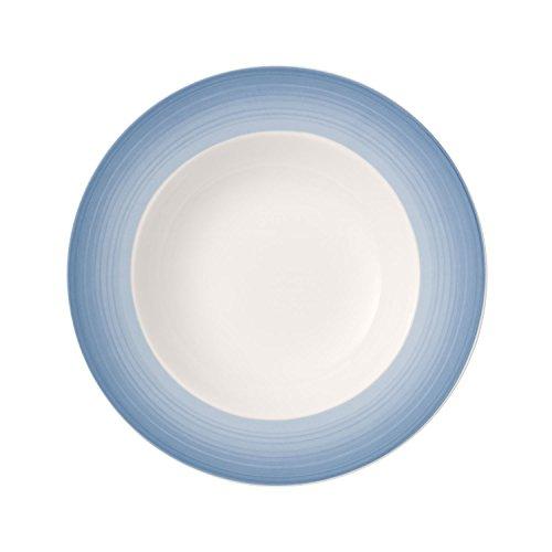 Villeroy & Boch Colourful Life Winter Sky Assiette creuse, 25 cm, Porcelaine Premium, Blanc/Bleu