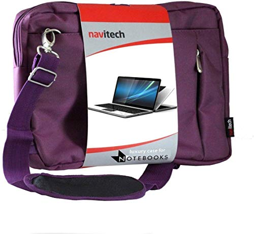 Price comparison product image Navitech Purple Premium Messenger / Carry Bag Compatible with The Lenovo IdeaPad S130 11 Inch