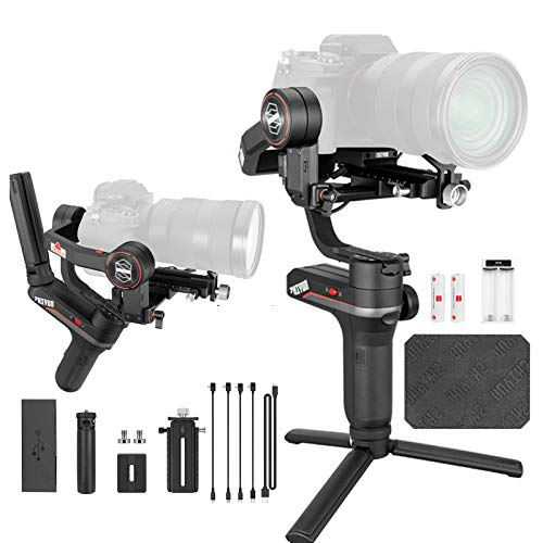 Zhiyun Weebill S 3-Axis Handheld Gimbal Stabilizer for Mirrorless and DSLR Camera for Canon 5DIV 5DIII EOS R Sony A7M3 A7R3 A7 III A9 Panasonic S1 GH5s Nikon Z6,Improved Motor Than weebill lab