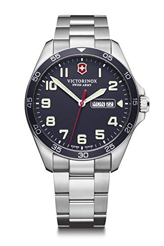 Victorinox Herren Field Force - Swiss Made Analog Quarz Edelstahluhr mit Tag/Datum 241851