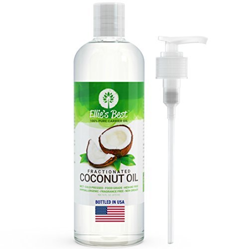 Fractionated Coconut Oil - Pure USA Expeller Cold Pressed & Hexane Free - Best Therapeutic Grade...