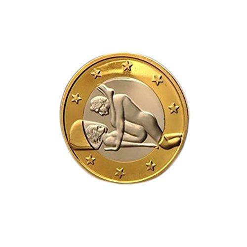 HEALLILY testa croce Sfida Moneta Oro Commemorativo Monete Collezione Arte Souvenir Regalo per adulti Amanti delle coppie