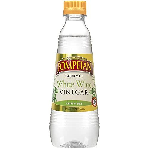 Pompeian Gourmet White Wine Vinegar, Bright & Fresh Flavor, Perfect for Salad Dressings, Shellfish & Sauces, 16 FL. OZ., Pack of 6