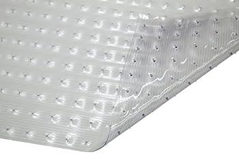WJ Dennis & Company Precut Vinyl Mat Gripper Backing for Low Pile Carpet 27 X 6 Clear
