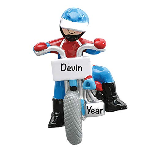 HolidayTraditions Dirt Bike Personalized Ornament - Unique Christmas Tree Ornament - Special Keepsake - Custom Sports Decoration - Personalization Included
