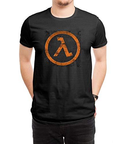 HUANGHUIH Herren Half Life Cotton Print T-Shirt Top Tee Medium