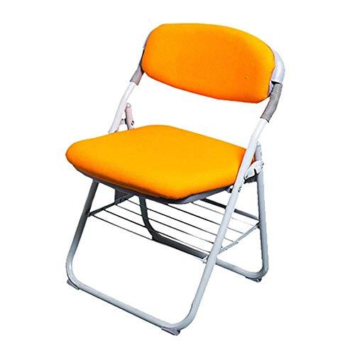 CENPEN Silla plegable de metal para entrenamiento, silla de oficina, silla de conferencia, silla de metal (color: amarillo, tamaño: 74 x 46 x 38 cm)