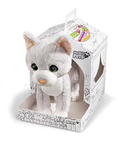 NICI 41562 Pets Kuscheltier Katze, Grau, 22 cm