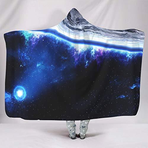 Wandlovers super zacht met capuchon plafond koeler ruimte planet aarde blauwe mist Galaxis kunstwerk druk pluche Sherpa fantasie omhang van de waaiers slapen
