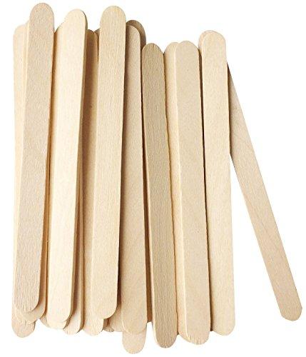 "Korlon 200 Pcs Craft Sticks Ice Cream Sticks Wooden Popsicle Sticks 4-1/2"" Length Treat Sticks Ice Pop Sticks"