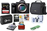 Sony Alpha a7 III 24MP UHD 4K Mirrorless Digital Camera (Body Only) - Bundle 32GB SDHC U3 Card, Camera Case, Spare Battery, Cleaning Kit, Memory Wallet, Card Reader, Mac Software Package