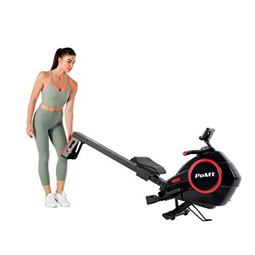Magnetic Rowing Machine Multi-Mode Folding Rowing Machine Indoor Exercise Equipment w/LCD Monitor 16 Levels Resistance Training Quiet Cardio Training Rowing Machine for Home Use, R80