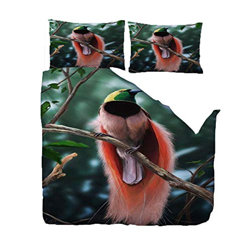 3D Print Duvet Cover Bedding Set Branch Bird Double Size Super Soft Comfortable Anti-Mite Quilt Cover For Home Hotel(1 Duvet Cover + 2 Pillowcases)