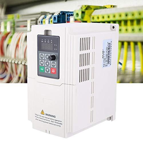 Inversor de Frecuencia, 1.5KW-7.5KW Inversor VFD Trifásico 380V Entrada Salida Controlador Variador Frecuencia Variador Convertidor Frecuencia Profesional para Ventiladores Sequía, Bombas, etc(3.7KW)
