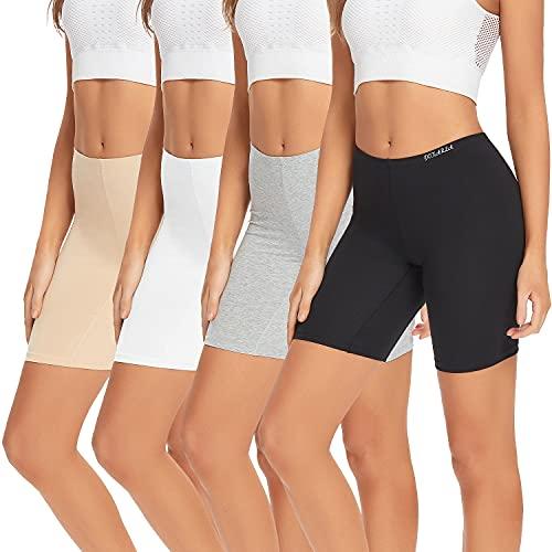 POKARLA Womens Underwear Cotton Boxer Shorts Anti Chafing Bike Shorts Boyshorts Panties