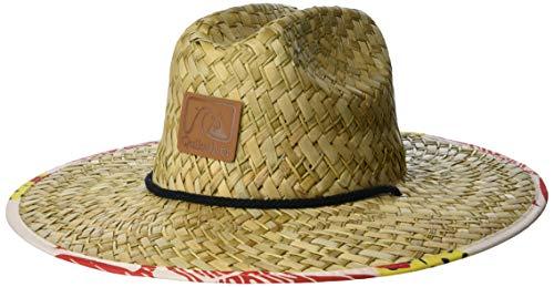 Quiksilver Sombrero de salvavidas de paja de protección solar para hombre - blanco - Large/X-Large
