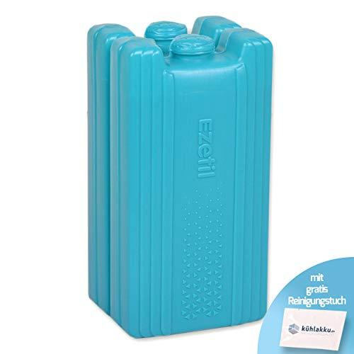 Lot de 2 accumulateurs de Froid 440 g, capacité de Refroidissement 18 h. EZetil High Performance Centrale de Refroidissement pour Sac Isotherme ou glacière Turquoise avec Chiffon de Nettoyage Gratuit