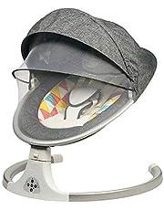 كرسي هزاز كهربائي عالي الجودة للأطفال حديثي الولادة مزود بموسيقى مهدئة وألعاب مظللة مزودة بموسيقى مهدئة
