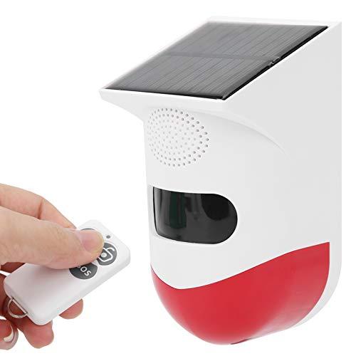 Asixxsix Alarma infrarroja Solar, Alarma de Seguridad infrarroja Impermeable ABS IP67, para el hogar de la Tienda