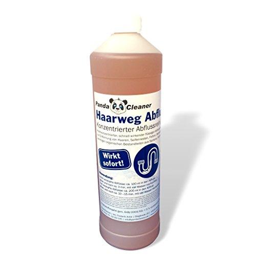 PANDACLEANER® Haar-Weg Abflussreiniger - Entfernt Hartnäckigste Verstopfungen - Hochkonzentrierter Rohrreiniger - Abflussfrei (1000ml)