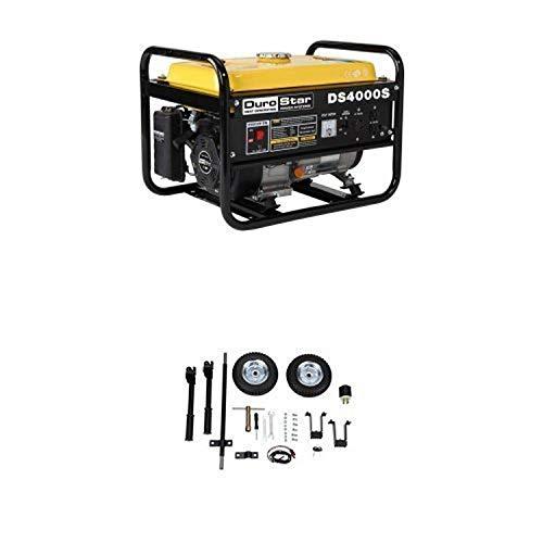 DuroStar DS4000S, 3300 Running Watts/4000 Starting Watts, Gas Powered Portable Generator and Wheel Kit Bundle