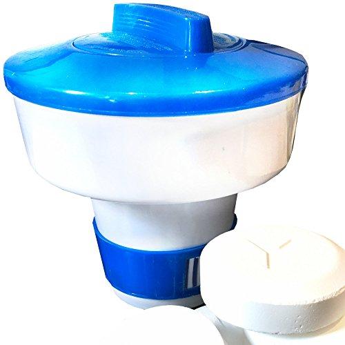 Weigand Maxi Flotteur pour jusqu'à 5 tablettes de 200 g – pour Piscine, Whirlpool, Quick Up & Pataugeoire, env. Ø 17,5 cm x H 18 cm