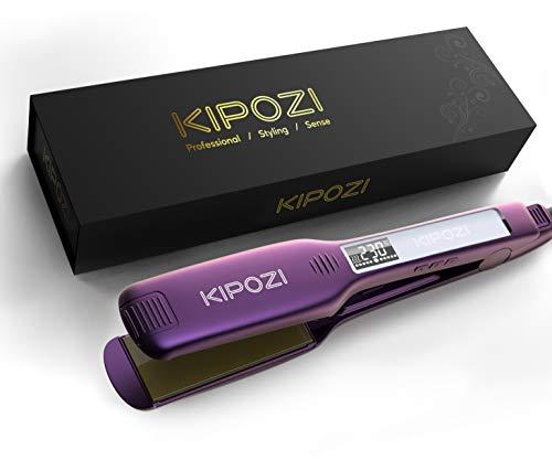 KIPOZI Professional Hair Straighteners 1.75 Inch Wide Plate Titanium Flat...