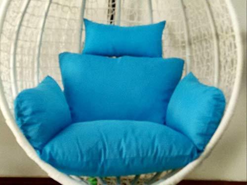 DZX Cojines cómodos para Columpios Cojín para Silla Tipo Hamaca, 100% algodón Acolchado, Cojines de Tejido de Mimbre para el Asiento del Asiento (Color: Azul Cielo) (Excluyendo la Silla)