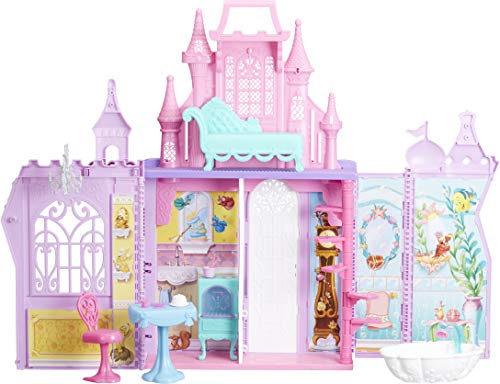 Disney Princess Pop-Up Palace, Castle Playset with Handle and 13 Accessories, 5...