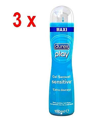 Durex Play - Sensitive - Gleitgel - 3er Pack Maxi (3 x 100 ml)