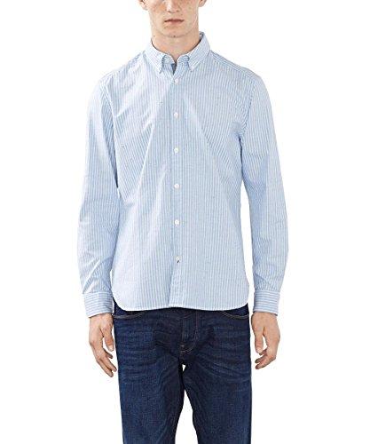 ESPRIT Herren mit feinen Oxford Streifen Freizeithemd, Blau (LIGHT BLUE LAVENDER 445), Large