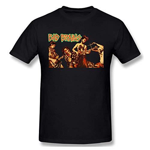 TIERA BENDER Heren Graphic Printing Bad Brains Sport T-shirts - - Medium