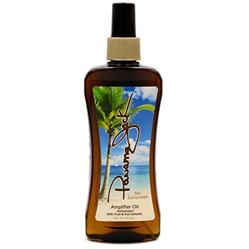 Panama Jack Amplifier Suntan Oil - Contains No Sunscreen Protection (0 SPF), Light Formula with Exotic Oils, Fruit and Nut Extracts, Tropical Fragrance, 8 FL OZ (Pack of 6)