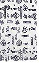 RIDDER 46413S-350 Duschvorhang Textil ca. 240 x 180 cm Neptun blau inklusive Ringe