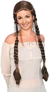 Rubie's Costume Brunette Renaissance Lady Wig with Braids