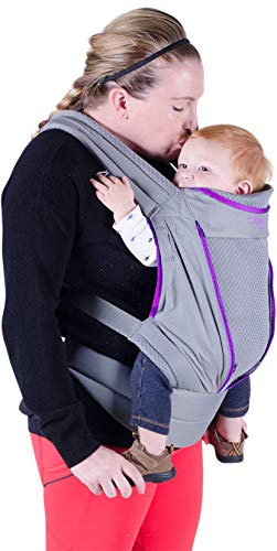 Onya Baby Pure Ergonomic Front and Back Infant to Toddler Carrier - Orchid/Granite