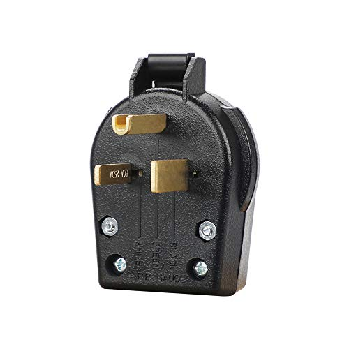 50A Power Plug,NEMA 6-50P 50Amps 250V Welder Replacement Plug,Heavy-duty Universal Angle Plug (NEMA 6-50P Power plug)