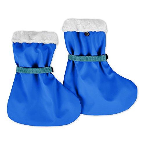 lovely lemon Gefütterte Regenfüßlinge in Blau für Jungs | Öko Tex Standard 100 | One Size für Babys und Kleinkinder | Wasserdicht | verschweißte Nähte | Waschbar bei 40° C