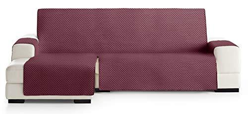 JM Textil Cubre Chaise Longue Acolchado Elena, Brazo Izquierdo, Tamaño 290cm, Color Granate 08