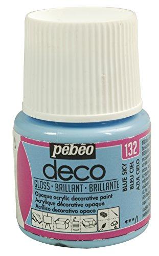 Pébéo Deco Peinture 45 ml Brillant Bleu Ciel 092132