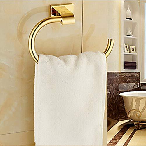 ZHHk Towel Bar Contemporary Brass 1 Unidades - Toalla de Hotel toallero Moderno de Pared