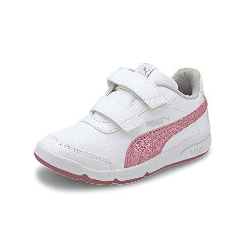 PUMA STEPFLEEX 2 SL VE Glitz FS V P, Zapatillas para Niñas, Blanco White/Foxglove/Gray Violet Silver, 30 EU