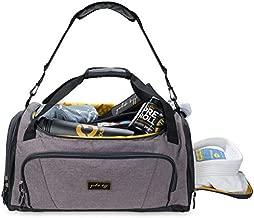Gold BJJ Jiu Jitsu Duffle Bag - Waterproof Pocket for Sweaty Gi, Rashguard, or Shoes - The Perfect Duffel Bag for Martial Arts Gear, Boxing, MMA, and More (Grey)