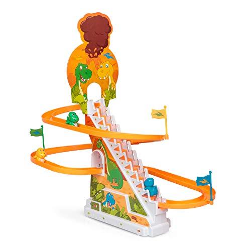 Tobar Dinosaurier Rennen Spielzeug mit 3 Dinofiguren - Dino-Rennen