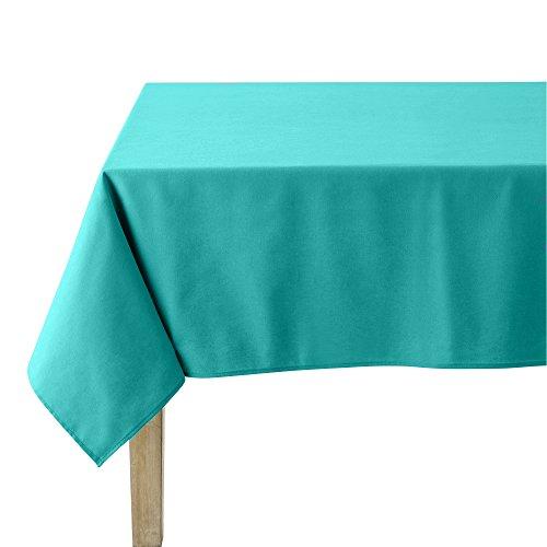 Coucke tafelkleed rond uni turquoise katoen 180 cm