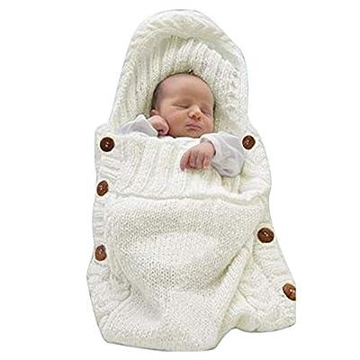 Baby Swaddle Blankets Ultra Soft Newborn Blankets Wrap Receiving Blankets Bag Unisex Baby Shower Presents (Beige 0-6m)