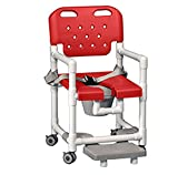 shower chairs with footrest