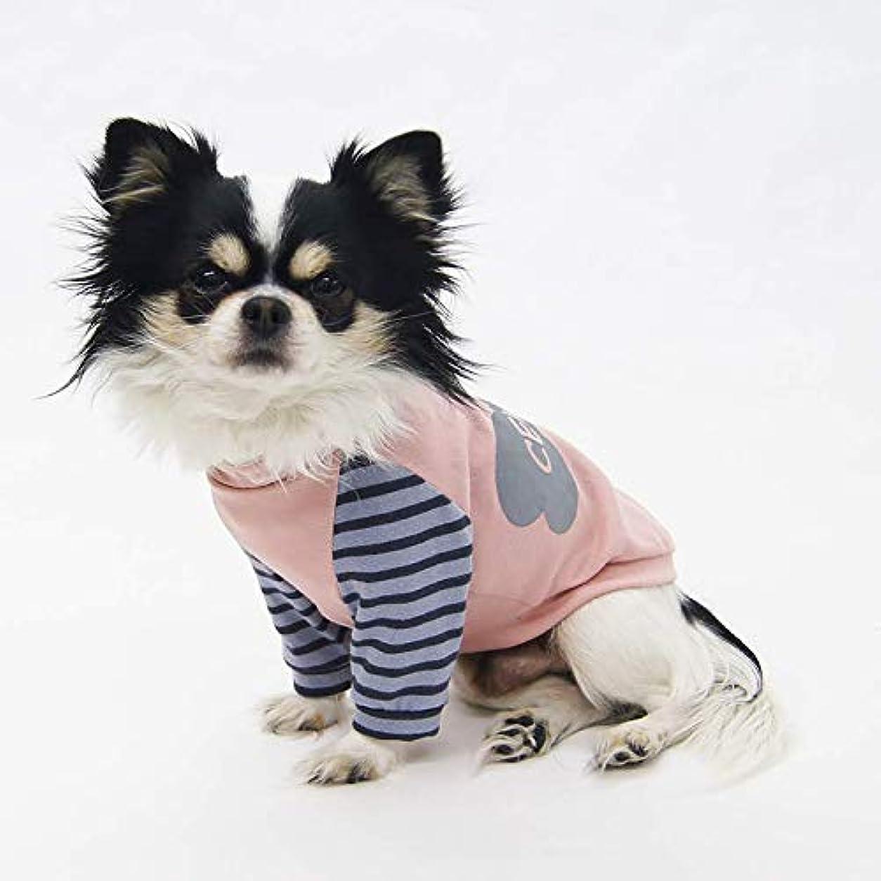 モックツインガロンソリッドラグランスリーブTシャツ型紙 ばらばら印刷 超小型犬XXS~SS