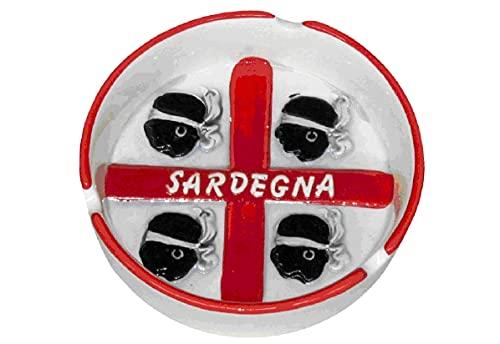 ZAMBIASI Posacenere in Ceramica con Rilievo 4 Mori Sardegna