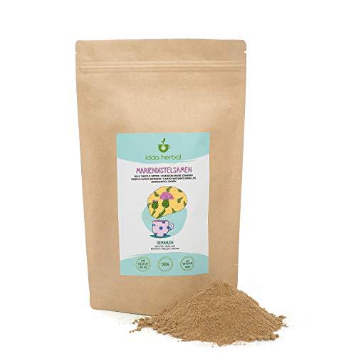 Mariendistelsamen gemahlen (500g), Mariendistelpulver 100% naturrein, schonend getrocknet und gemahlen, Mariendistel